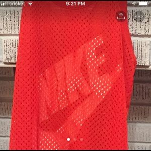 Women's size S NIKE mesh Tank Top.  Red/Orange